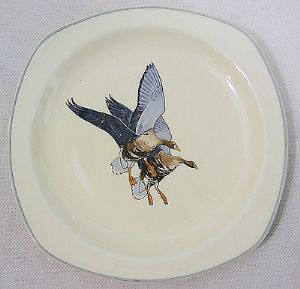 Midwinter 'Wild Geese' 6.25 inch Plates - 2 available - 1960s